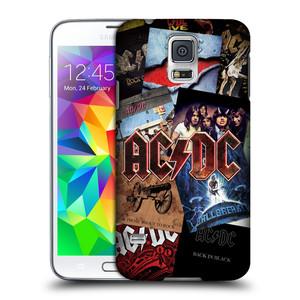Plastové pouzdro na mobil Samsung Galaxy S5 HEAD CASE AC/DC Koláž desek