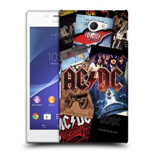 Plastové pouzdro na mobil Sony Xperia M2 D2303 HEAD CASE AC/DC Koláž desek