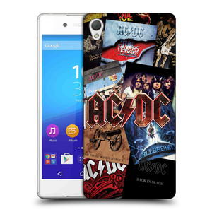 Plastové pouzdro na mobil Sony Xperia Z3+ (Plus) HEAD CASE AC/DC Koláž desek