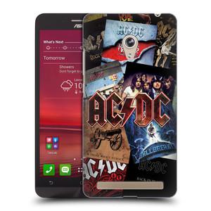 Plastové pouzdro na mobil Asus Zenfone 6 HEAD CASE AC/DC Koláž desek