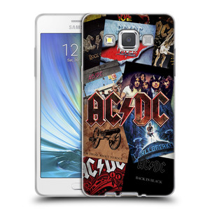 Silikonové pouzdro na mobil Samsung Galaxy A5 HEAD CASE AC/DC Koláž desek