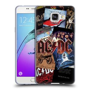 Silikonové pouzdro na mobil Samsung Galaxy A5 (2016) HEAD CASE AC/DC Koláž desek