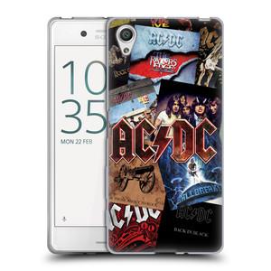 Silikonové pouzdro na mobil Sony Xperia X HEAD CASE AC/DC Koláž desek