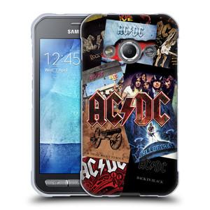 Silikonové pouzdro na mobil Samsung Galaxy Xcover 3 HEAD CASE AC/DC Koláž desek