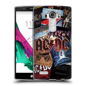 Silikonové pouzdro na mobil LG G4 HEAD CASE AC/DC Koláž desek