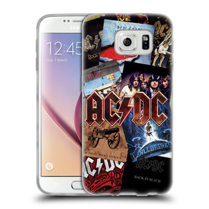 Silikonové pouzdro na mobil Samsung Galaxy S6 HEAD CASE AC/DC Koláž desek