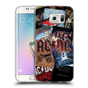Silikonové pouzdro na mobil Samsung Galaxy S6 Edge HEAD CASE AC/DC Koláž desek