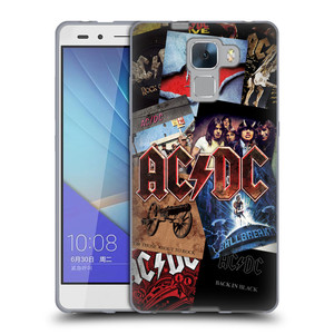 Silikonové pouzdro na mobil Honor 7 HEAD CASE AC/DC Koláž desek