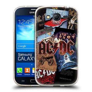 Silikonové pouzdro na mobil Samsung Galaxy Grand Neo Plus HEAD CASE AC/DC Koláž desek