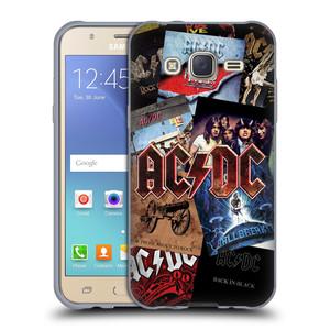 Silikonové pouzdro na mobil Samsung Galaxy J5 HEAD CASE AC/DC Koláž desek