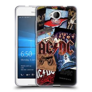 Silikonové pouzdro na mobil Microsoft Lumia 650 HEAD CASE AC/DC Koláž desek
