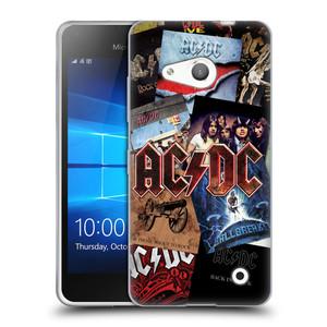 Silikonové pouzdro na mobil Microsoft Lumia 550 HEAD CASE AC/DC Koláž desek