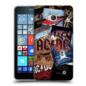 Silikonové pouzdro na mobil Microsoft Lumia 640 HEAD CASE AC/DC Koláž desek