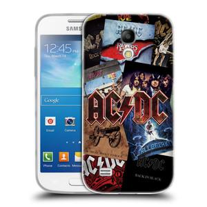 Silikonové pouzdro na mobil Samsung Galaxy S4 Mini HEAD CASE AC/DC Koláž desek