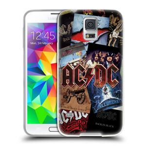 Silikonové pouzdro na mobil Samsung Galaxy S5 Neo HEAD CASE AC/DC Koláž desek