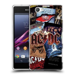 Silikonové pouzdro na mobil Sony Xperia Z1 Compact D5503 HEAD CASE AC/DC Koláž desek