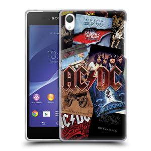 Silikonové pouzdro na mobil Sony Xperia Z2 D6503 HEAD CASE AC/DC Koláž desek