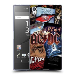 Silikonové pouzdro na mobil Sony Xperia Z5 Premium HEAD CASE AC/DC Koláž desek