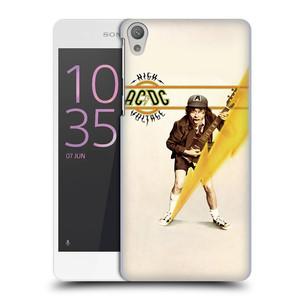 Plastové pouzdro na mobil Sony Xperia E5 HEAD CASE AC/DC High Voltage