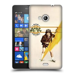 Plastové pouzdro na mobil Microsoft Lumia 535 HEAD CASE AC/DC High Voltage