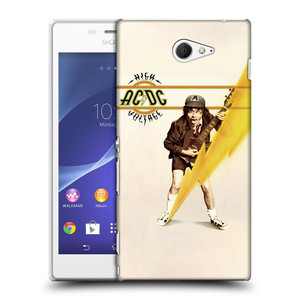 Plastové pouzdro na mobil Sony Xperia M2 D2303 HEAD CASE AC/DC High Voltage