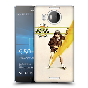 Silikonové pouzdro na mobil Microsoft Lumia 950 XL HEAD CASE AC/DC High Voltage