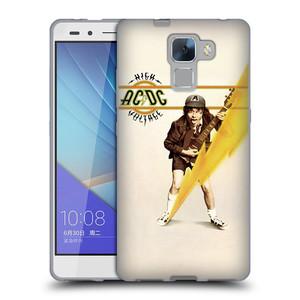 Silikonové pouzdro na mobil Honor 7 HEAD CASE AC/DC High Voltage