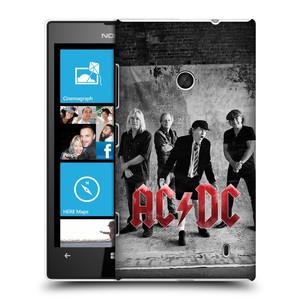 Plastové pouzdro na mobil Nokia Lumia 520 HEAD CASE AC/DC Skupina černobíle