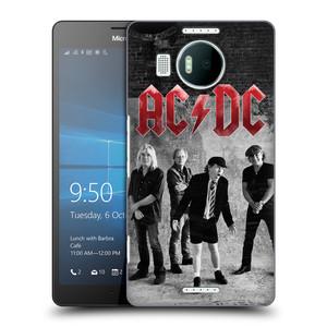 Plastové pouzdro na mobil Microsoft Lumia 950 XL HEAD CASE AC/DC Skupina černobíle