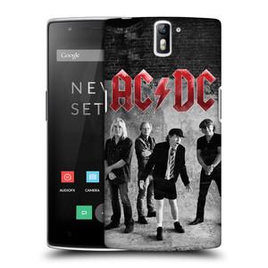 Plastové pouzdro na mobil OnePlus One HEAD CASE AC/DC Skupina černobíle