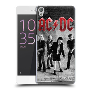 Plastové pouzdro na mobil Sony Xperia E5 HEAD CASE AC/DC Skupina černobíle