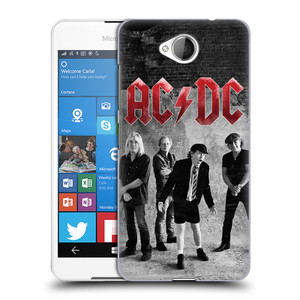 Plastové pouzdro na mobil Microsoft Lumia 650 HEAD CASE AC/DC Skupina černobíle