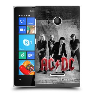 Plastové pouzdro na mobil Microsoft Lumia 435 HEAD CASE AC/DC Skupina černobíle