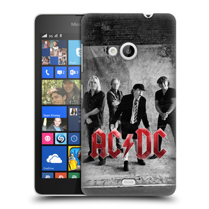 Plastové pouzdro na mobil Microsoft Lumia 535 HEAD CASE AC/DC Skupina černobíle