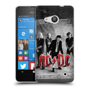 Plastové pouzdro na mobil Microsoft Lumia 550 HEAD CASE AC/DC Skupina černobíle