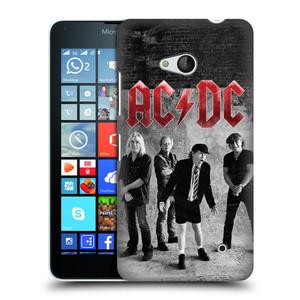 Plastové pouzdro na mobil Microsoft Lumia 640 HEAD CASE AC/DC Skupina černobíle
