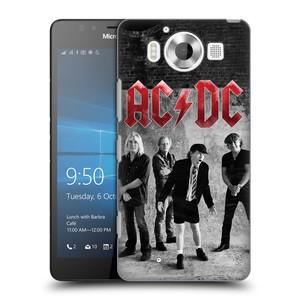 Plastové pouzdro na mobil Microsoft Lumia 950 HEAD CASE AC/DC Skupina černobíle