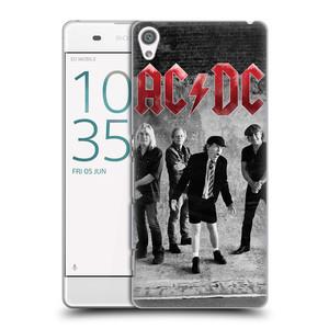 Plastové pouzdro na mobil Sony Xperia XA HEAD CASE AC/DC Skupina černobíle