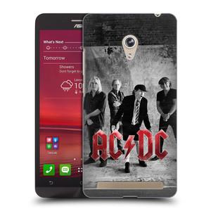 Plastové pouzdro na mobil Asus Zenfone 6 HEAD CASE AC/DC Skupina černobíle