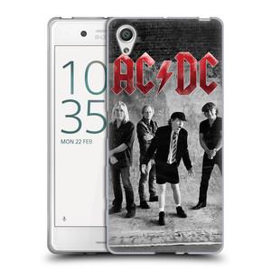 Silikonové pouzdro na mobil Sony Xperia X HEAD CASE AC/DC Skupina černobíle
