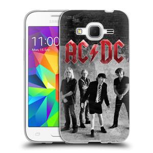 Silikonové pouzdro na mobil Samsung Galaxy Core Prime VE HEAD CASE AC/DC Skupina černobíle