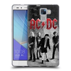 Silikonové pouzdro na mobil Honor 7 HEAD CASE AC/DC Skupina černobíle