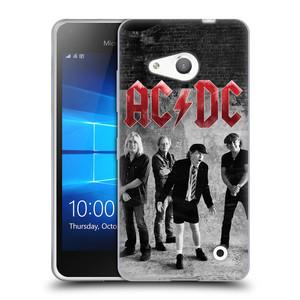 Silikonové pouzdro na mobil Microsoft Lumia 550 HEAD CASE AC/DC Skupina černobíle