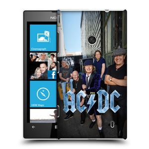 Plastové pouzdro na mobil Nokia Lumia 520 HEAD CASE AC/DC Skupina barevně