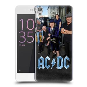 Plastové pouzdro na mobil Sony Xperia E5 HEAD CASE AC/DC Skupina barevně