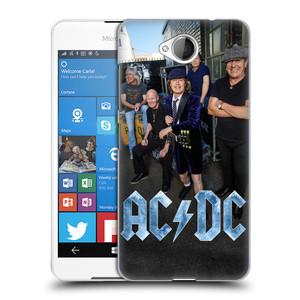 Plastové pouzdro na mobil Microsoft Lumia 650 HEAD CASE AC/DC Skupina barevně