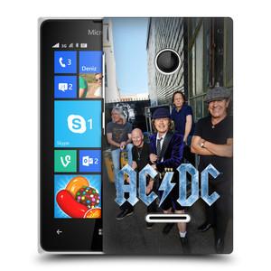 Plastové pouzdro na mobil Microsoft Lumia 435 HEAD CASE AC/DC Skupina barevně