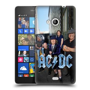Plastové pouzdro na mobil Microsoft Lumia 535 HEAD CASE AC/DC Skupina barevně