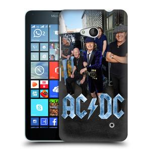 Plastové pouzdro na mobil Microsoft Lumia 640 HEAD CASE AC/DC Skupina barevně