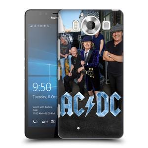 Plastové pouzdro na mobil Microsoft Lumia 950 HEAD CASE AC/DC Skupina barevně